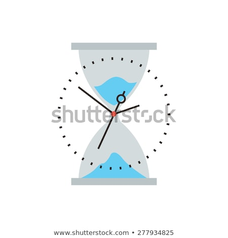 Hurried Manager Running In A Clock Modern Flat Design Stock photo © hittoon
