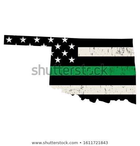 Оклахома военных поддержки американский флаг иллюстрация форма Сток-фото © enterlinedesign