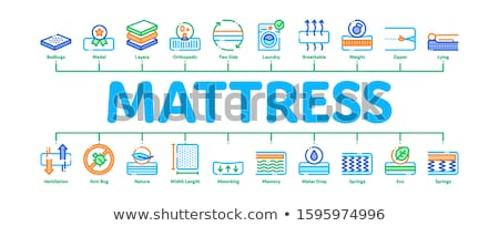 Mattress Orthopedic Minimal Infographic Banner Vector Stock photo © pikepicture