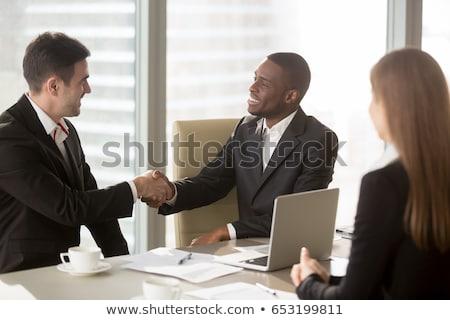 Handen geslaagd mannelijke ondernemer witte shirt Stockfoto © pressmaster