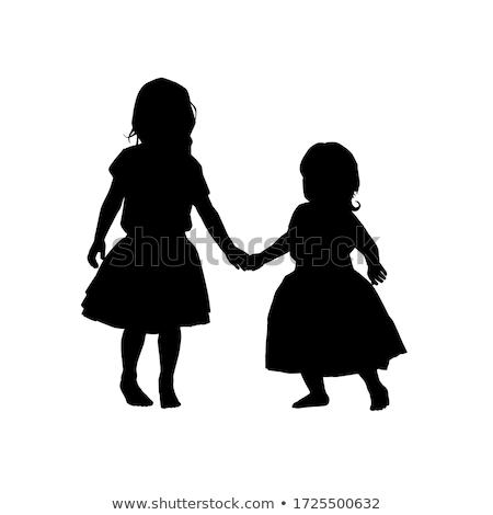 Vetor família modelo de design dois crianças Foto stock © blumer1979