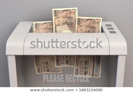 Yen parçalayıcı düzenli ofis kâğıt Stok fotoğraf © albund