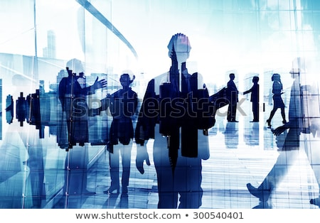 group of office people and manual workers Stock photo © dolgachov
