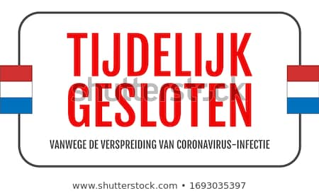 Stock photo: Shop closed flyer template with coronavirus information