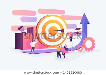 Workers Cooperation, Target or Goal, Work Vector Stock photo © robuart
