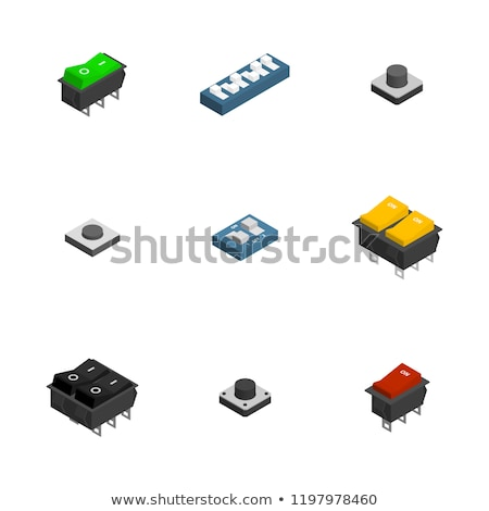 Set of different 3D electronic components, vector illustration. Stock photo © kup1984