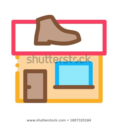 Ayakkabı tamir inşa etmek ikon vektör Stok fotoğraf © pikepicture