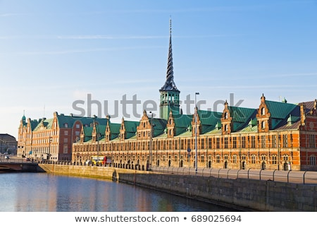 Dragão bolsa de valores Copenhague Dinamarca ver edifício Foto stock © boggy