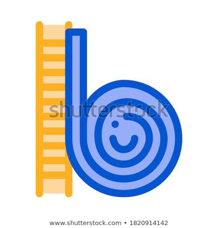 Lumaca up icona vettore contorno illustrazione Foto d'archivio © pikepicture