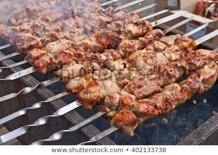 Disznóhús előkészített ünnep hús illatos ízletes Stock fotó © ruslanshramko