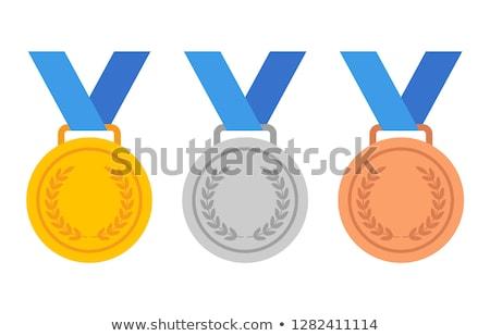 Vektor szett érem sport arany rajz Stock fotó © olllikeballoon