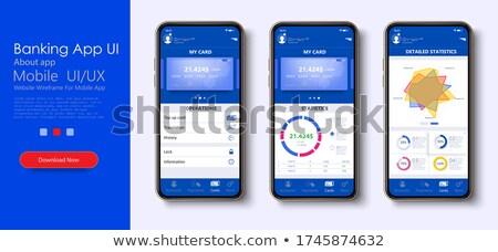 Banking documentazione app interfaccia modello contabili Foto d'archivio © RAStudio