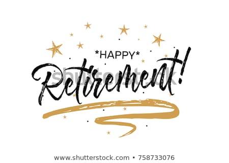 Heureux retraite supérieurs homme Photo stock © poco_bw
