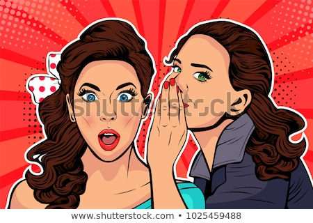 mulher · fofoca · brilhante · quadro · mulher · jovem - foto stock © dolgachov