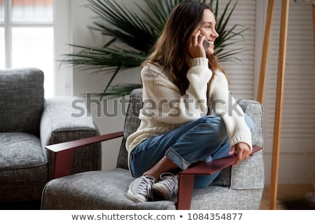 говорить телефон сотового телефона удивленный изолированный Сток-фото © elenaphoto