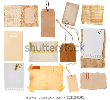 An old wooden photo frame with yellowing card. Stock photo © latent