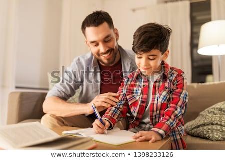Foto stock: Estudiante · cuaderno · hijo · negocios · ordenador · mujer