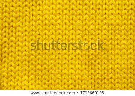 Yellow wool texture Stock photo © homydesign