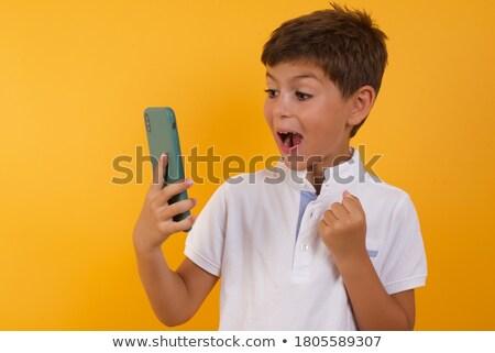 Empresária uma boa notícia telefone menina mulheres telefone Foto stock © photography33