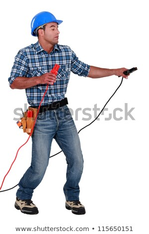 Manual worker with a set of jump leads Stock photo © photography33
