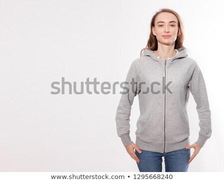 woman in a grey sweatshirt stock photo © photography33