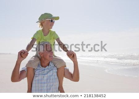grand-père · petit-fils · lunettes · de · soleil · modèle · été · verres - photo stock © photography33