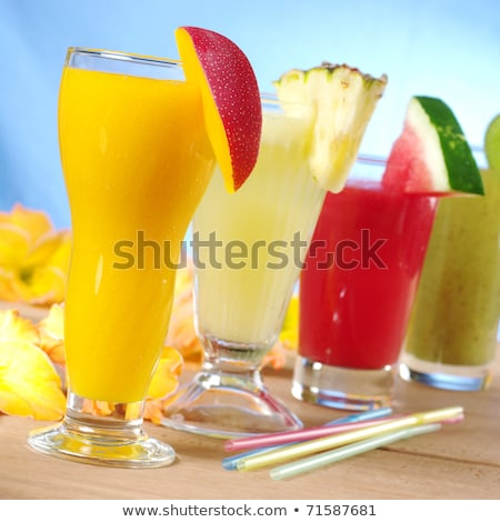 Mango, Melon, Pineapple and Kiwi Smoothies Stock photo © ildi