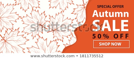 Autumn banner, vector illustration Stock photo © carodi