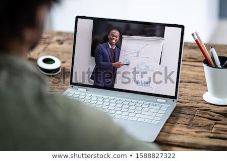 empresário · bonito · vendedor · corretor · de · imóveis · traçar - foto stock © lisafx