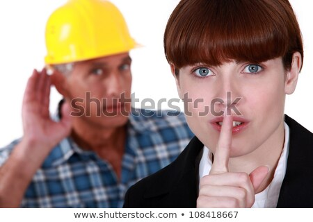 Mulher construtor calma negócio cara moda Foto stock © photography33