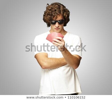poker · speler · zonnebril · foto - stockfoto © sumners