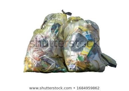 hulladék · szatyrok · izolált · fehér · háttér · takarítás - stock fotó © shutswis