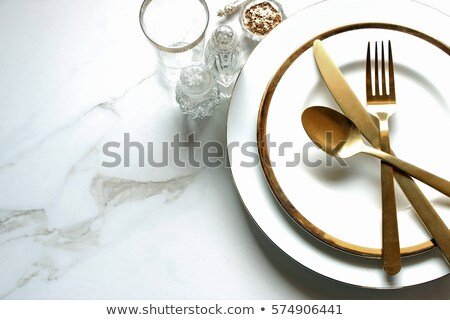 Table serving for a supper in a restaurant Stock photo © gsermek