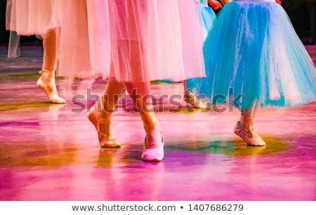 naakt · ballerina · dansen · stoel · monochroom · afbeelding - stockfoto © carlodapino