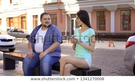 若い男 · きれいな女性 · 孤立した · 女性 · 男 - ストックフォト © acidgrey