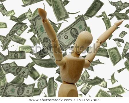 木製 · 人形 · 雨 · ドル · ビジネス · お金 - ストックフォト © pterwort