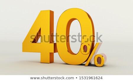 3D · 40 · procent · biały · działalności · ceny - zdjęcia stock © Mariusz_Prusaczyk