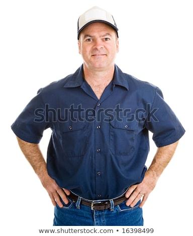 blue collar guy stock photo © curaphotography