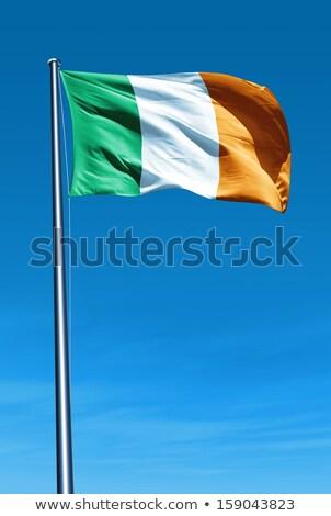 irlandés · bandera · Irlanda · esfera · aislado · blanco - foto stock © marinini