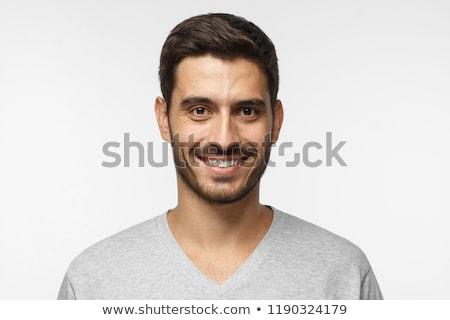 Portret człowiek przystojny przypadkowy Zdjęcia stock © Forgiss