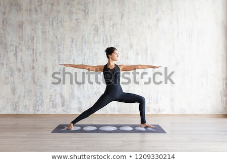 Yoga Warrior Pose Stock photo © AlienCat