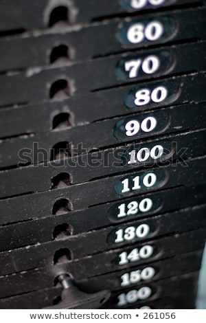 gimnasio · mujer · confianza · desgaste · pie · deporte - foto stock © Forgiss