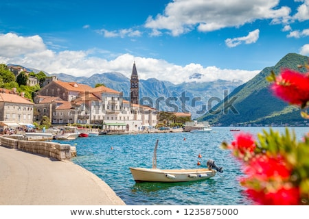 perast village by kotor bay in montenegro Stock photo © travelphotography
