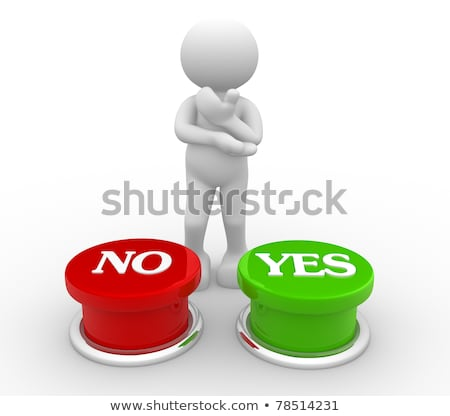 3d People With Yes And No Button Stock fotó © CoraMax