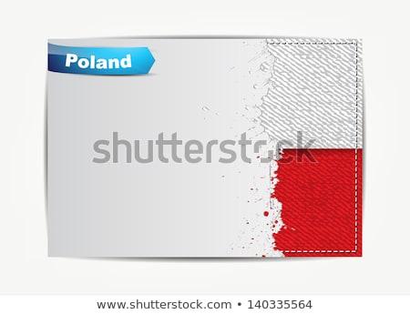 иллюстрация · Польша · текста · стороны · дизайна · фон - Сток-фото © maxmitzu