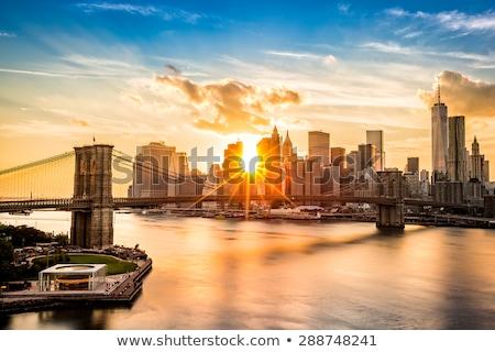 Ver manhattan pôr do sol luz Nova Iorque 20 Foto stock © frank11