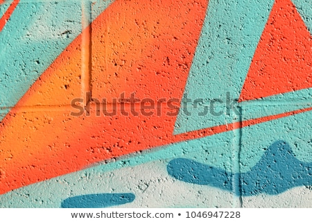 Street art spray kan mijn stad abstract Stockfoto © jonnysek