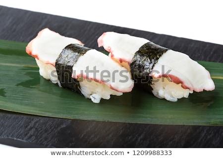 осьминога суши традиционный служивший бобов Сток-фото © rohitseth