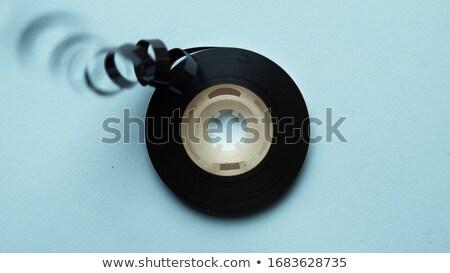 Audio analog kaseta taśmy streszczenie środowisk Zdjęcia stock © tolokonov