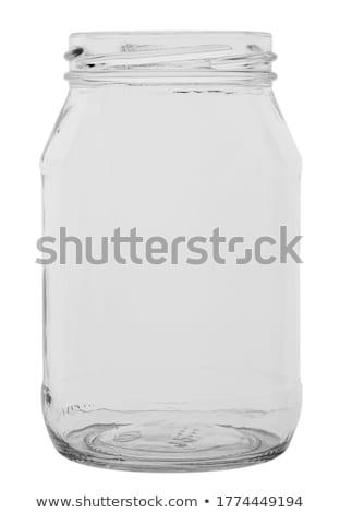 empty canning jar on a white background stock photo © zerbor